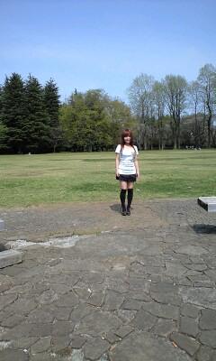 公園で撮影中☆
